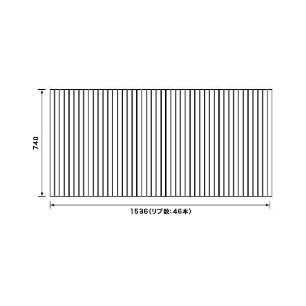 パナソニック 風呂フタ 巻きフタ:1600用 サイズ 1536×740 四角型