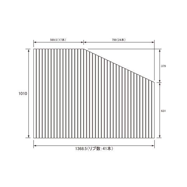 【フタ】 パナソニック 風呂フタ Eバリアフリー巻きフタ1620用R サイズ 1369×1010 変形型