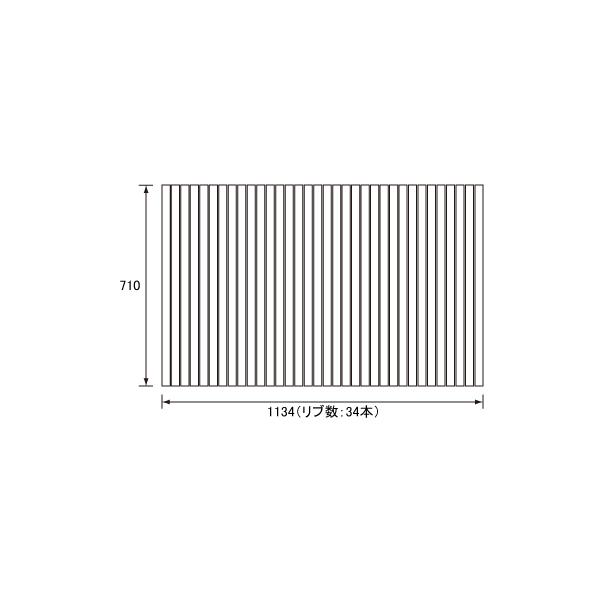 【フタ】 パナソニック 風呂フタ EX腰掛浴槽1216用巻きフタ・フック無 サイズ 1134×710 四角型