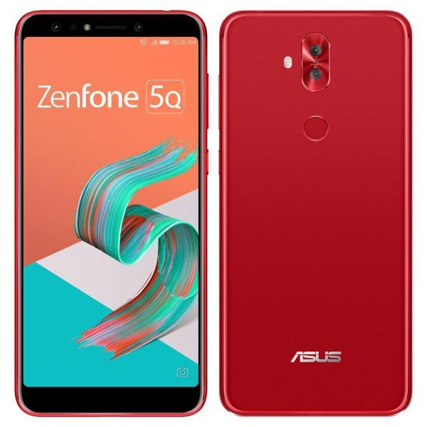 ASUS エイスース ZenFone 5Q ルージュレッド Android 7.1.1・ディスプレイ 6型ワイド ・メモリ/ストレージ:4GB/64GB [ZC600KL-RD64S4] ZC600KL-RD64S4|sumahoselect