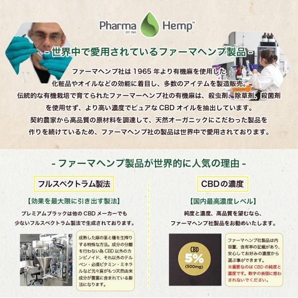 CBD リキッド プレミアムブラック フルスペクトラム PharmaHemp ファーマヘンプ 100mg 1% 高濃度 高純度 vape|sumotoku|04