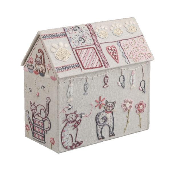 044-00329 BOITE MAISON CHATS(猫のお家ボックス)|sun-k|04