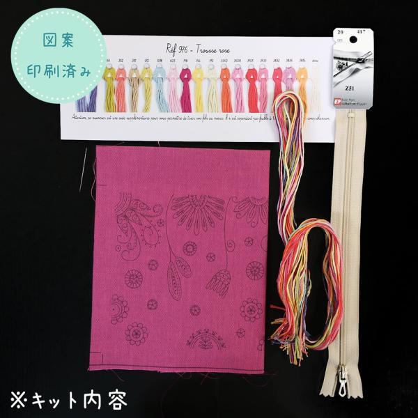 フランス製 刺しゅうキット Trousse Rose(ポーチ・ローズ)044-00976|sun-k|03