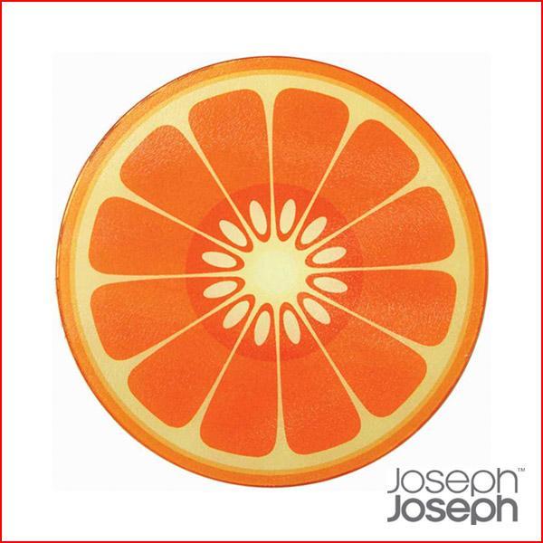 (ジョゼフジョゼフ ジョセフジョセフ) まな板 カッティングボード 丸型 オレンジ 3632|sun-wa|02