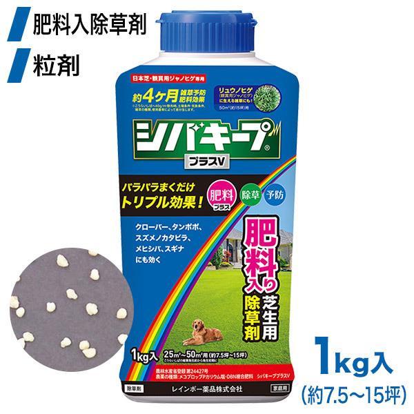 芝生 除草剤 シバキーププラスV 1kg 4903471101879 レインボー薬品 土壌処理型
