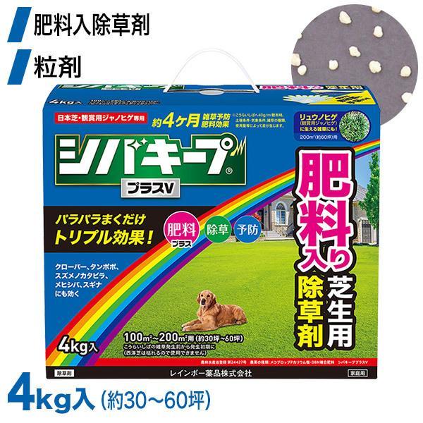 芝生 除草剤 シバキーププラスV 4kg 4903471101893 レインボー薬品 土壌処理型