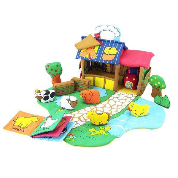 布おもちゃ ふわふわファームハウス 4941746803714 知育玩具|sun-wa|02