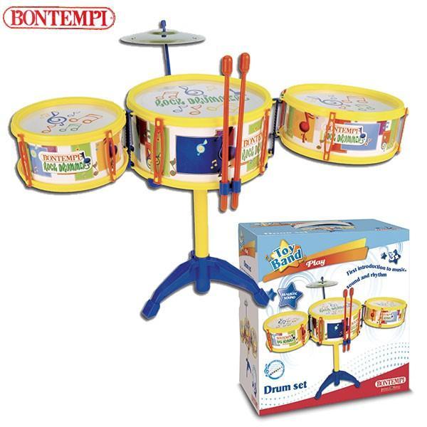 Bontempi ボンテンピ ドラムセット 3pcs 513341 知育玩具 sun-wa