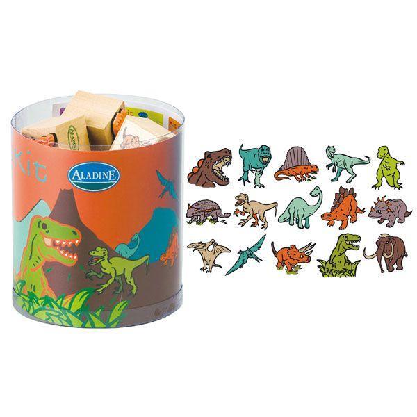 アラジン フレンチスタンプ15キット ディノサウルス 恐竜 AD3308 知育玩具 スタンプ キャラクター 小学生 幼稚園 はんこ おもちゃ|sun-wa|02