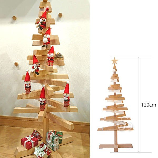 旧商品 【予約注文 11月中旬予定】クリスマスツリー 木製 コサイン 期間限定商品 Christmastree|sun-wa|03
