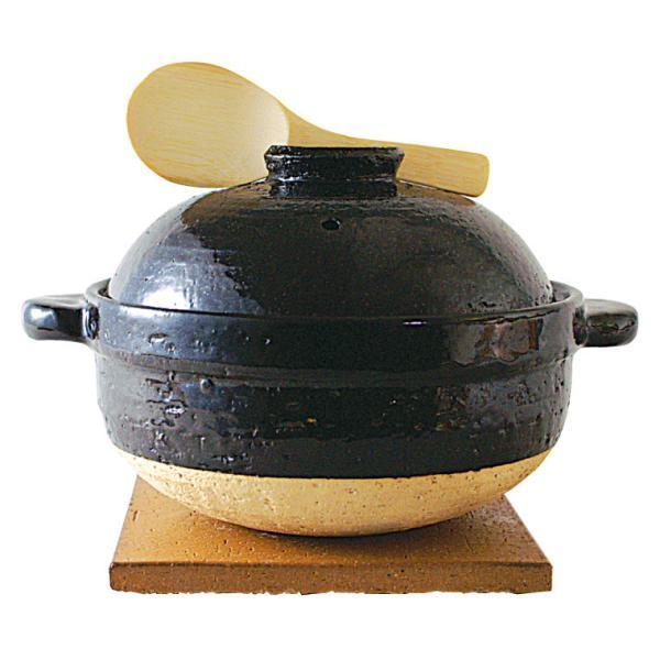 ご飯鍋 長谷園 伊賀焼 かまどさん 三合炊き 直火専用 CT-01  炊飯 土鍋 ごはん|sun-wa|03