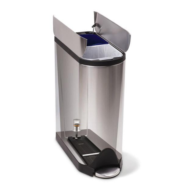 シンプルヒューマン バタフライカン リサイクラー 40L simplehuman CW2017 00121 ゴミ箱|sun-wa|02