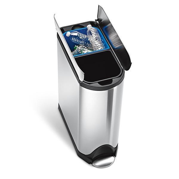 シンプルヒューマン バタフライカン リサイクラー 40L simplehuman CW2017 00121 ゴミ箱|sun-wa|03
