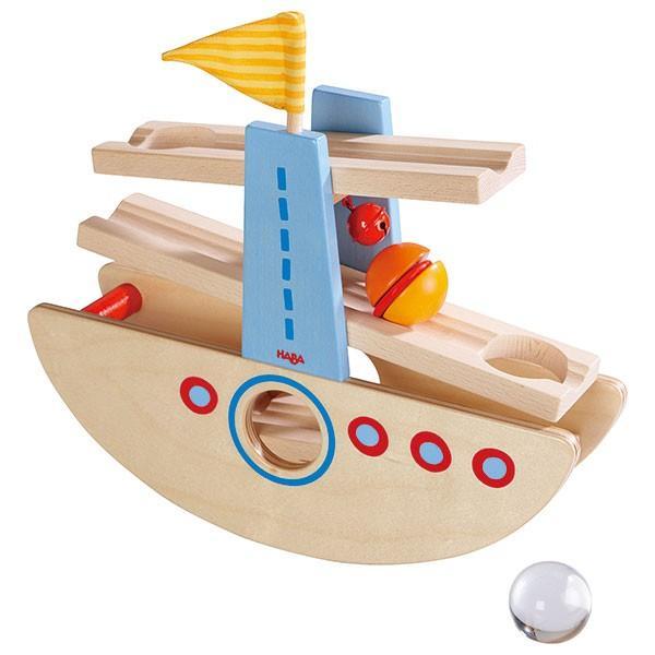 木のおもちゃ はじめてのクーゲルバーン・シップ ハバ HA6643(知育玩具、ベビー用積み木、ブロック) sun-wa 02
