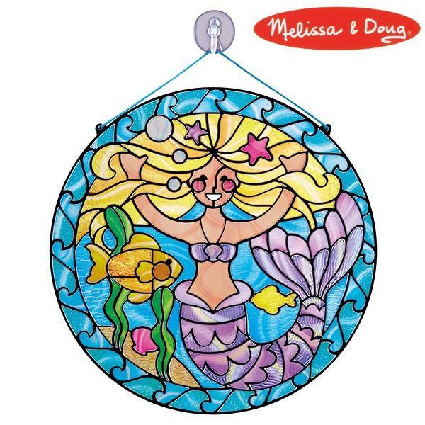Melissa&Doug メリッサ&ダグ ステンドグラス マーメイド MD9292 知育玩具|sun-wa