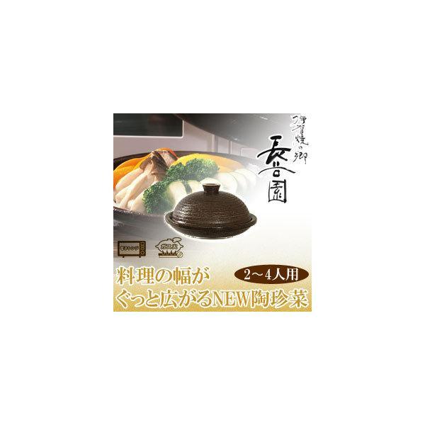 長谷園 伊賀焼 陶珍菜 アメ釉 大 NNC-46(鍋、グリル) sun-wa