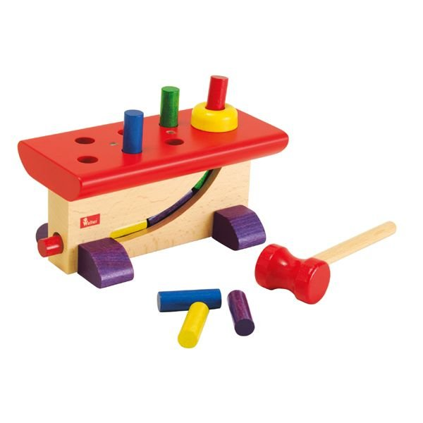 知育玩具 ハンマートイ 大工さん ニック NC64423 おもちゃ 木 1歳 2歳 3歳 誕生日プレゼント|sun-wa