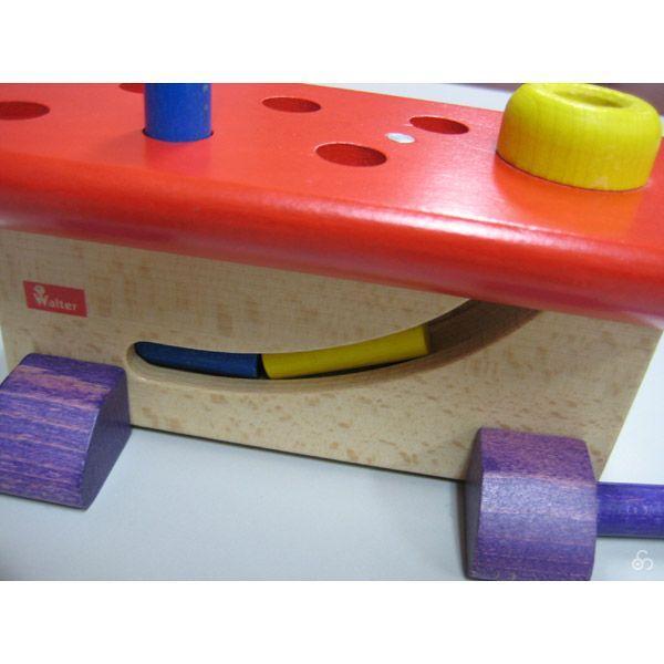 知育玩具 ハンマートイ 大工さん ニック NC64423 おもちゃ 木 1歳 2歳 3歳 誕生日プレゼント|sun-wa|02