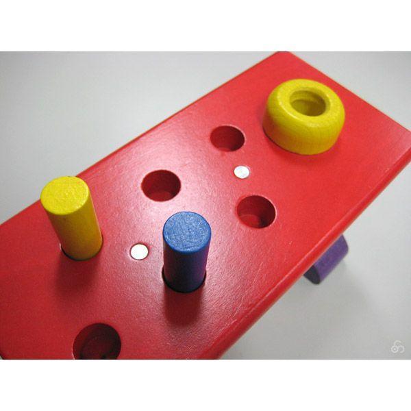 知育玩具 ハンマートイ 大工さん ニック NC64423 おもちゃ 木 1歳 2歳 3歳 誕生日プレゼント|sun-wa|04