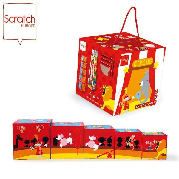 SCRATCH スクラッチ スタッキングタワー サーカス 5ピース SC1050 知育玩具|sun-wa