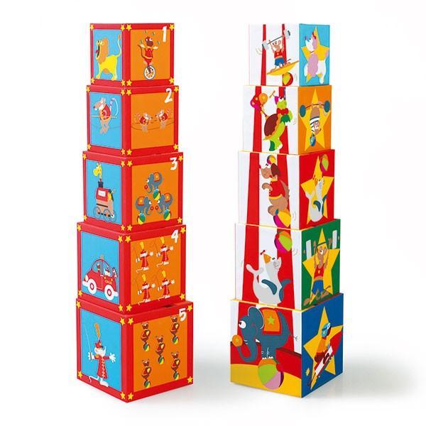 SCRATCH スクラッチ スタッキングタワー サーカス 5ピース SC1050 知育玩具|sun-wa|02