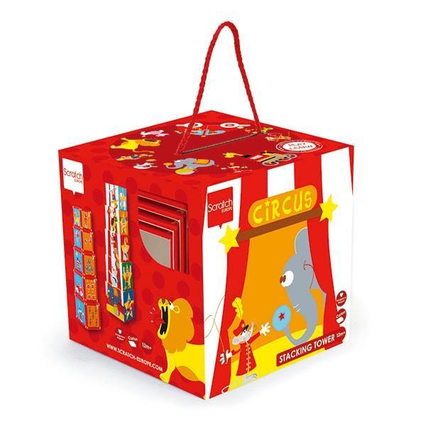 SCRATCH スクラッチ スタッキングタワー サーカス 5ピース SC1050 知育玩具|sun-wa|04