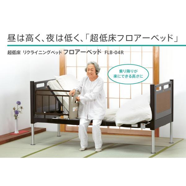 フランスベッド 超低床フロアーベッド 標準 (背・脚・昇降) FLB-04R FLP付固定脚 組み立て配送