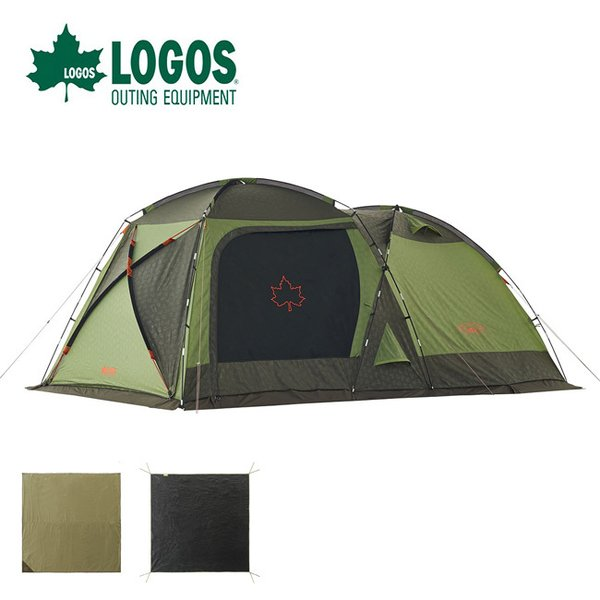 LOGOS ロゴス LOGOS テントチャレンジセット neos PANELスクリーンドゥーブル XL-BJ 2ルーム 前室 リビング グランドシート マット セット キャンプ ファミリー