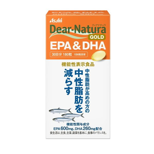 アサヒディアナチュラゴールドEPA&DHA30日分(180粒)
