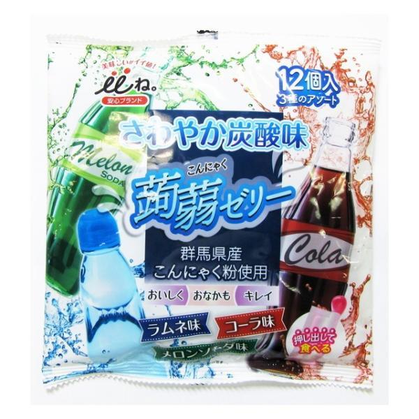 ◆いいね。さわやか炭酸味 蒟蒻ゼリー 3種アソート 23gx12個