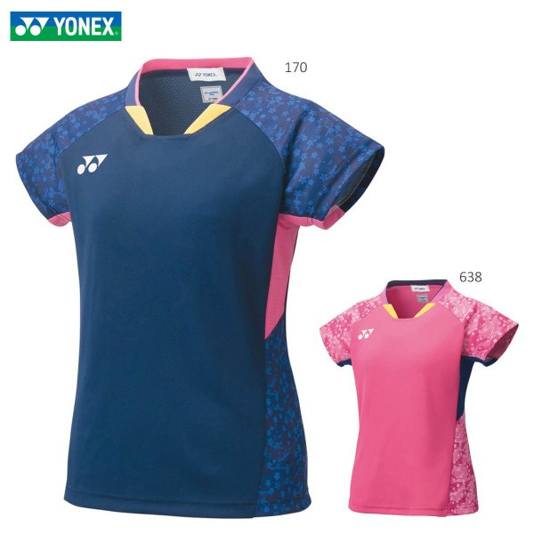 YONEX 20562 ウィメンズゲームシャツ(フィットシャツ) ウェア(レディース) バドミントン・テニス ヨネックス 2020年秋冬モデル【メール便可/日本バドミントン協