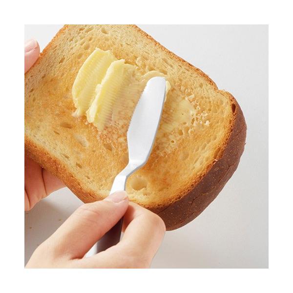 【じわっととろける バターナイフ 1個入り】 熱伝導 切りやすい 塗りやすい おしゃれ バター ナイフ アウトドア 食パン パン 料理 インスタ映え|sunfield-silica|02