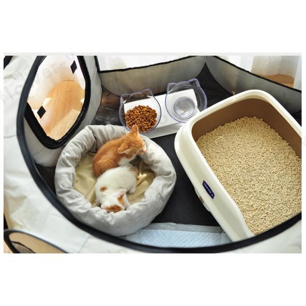 ペットハウス ペットテント ペットケージ 犬 猫 八面メッシュサークル 折りたたみ式 室内   室外|sunflower-y|05