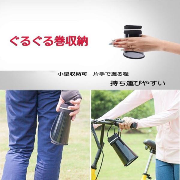 サンバイザー 折りたたみ  自転車通勤 収納可 くるくるサンバイザー ハット UVカット帽子 つば広 日焼け止め対策 男女兼用 通学 通勤 ゴルフ 農作業|sunflower-y|13