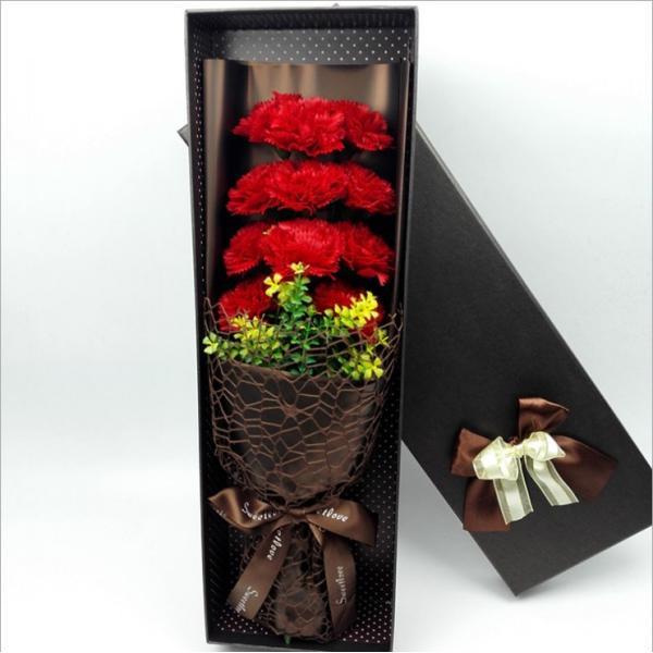 カーネーション ソープフラワー いい香り 母の日ギフト カーネーション花ボックス 永遠の  花 お祝い お見舞い sfw1802|sunflower-y|02