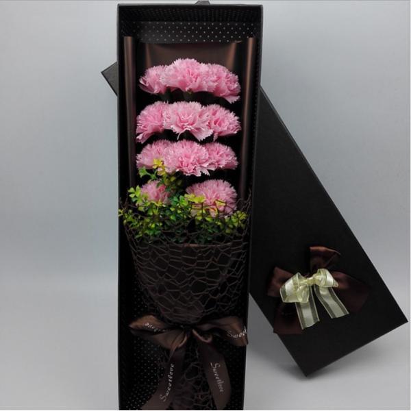 カーネーション ソープフラワー いい香り 母の日ギフト カーネーション花ボックス 永遠の  花 お祝い お見舞い sfw1802|sunflower-y|04