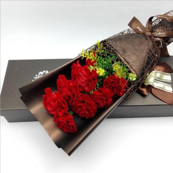 カーネーション ソープフラワー いい香り 母の日ギフト カーネーション花ボックス 永遠の  花 お祝い お見舞い sfw1802|sunflower-y|07