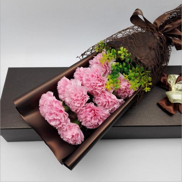 カーネーション ソープフラワー いい香り 母の日ギフト カーネーション花ボックス 永遠の  花 お祝い お見舞い sfw1802|sunflower-y|09