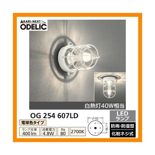 LED 照明 LED ポーチライト OG 254 607LD LEDライト 外灯 屋外 門灯 ODELIC オーデリック 送料無料