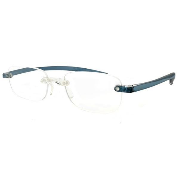 老眼鏡 超軽量フレーム シニアグラス ブルー メンズ ツーポイント ソフト老眼鏡 スクエア型 男性用 シンプル リーディンググラス 人気 母の日 父の日 プレゼント
