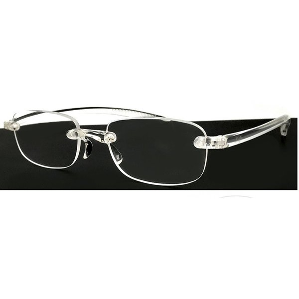 老眼鏡 超軽量フレーム シニアグラス ホワイト クリア メンズ レディース ツーポイント ソフト老眼鏡 スクエア型 男性用 女性用 リーディンググラス 人気