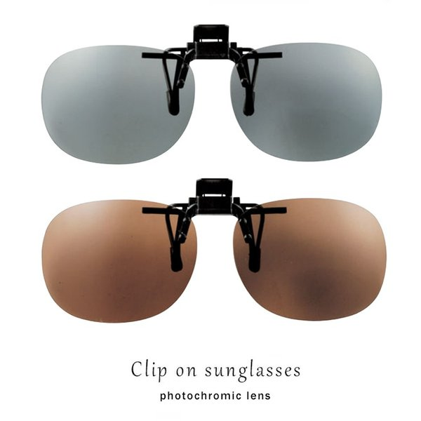 クリップオンサングラス 偏光 調光 レンズ ST-15 クリップオンメガネ 紫外線により レンズ濃度が変化 uvカット 紫外線対策 運転 釣り 旅行 偏光調光 グラス