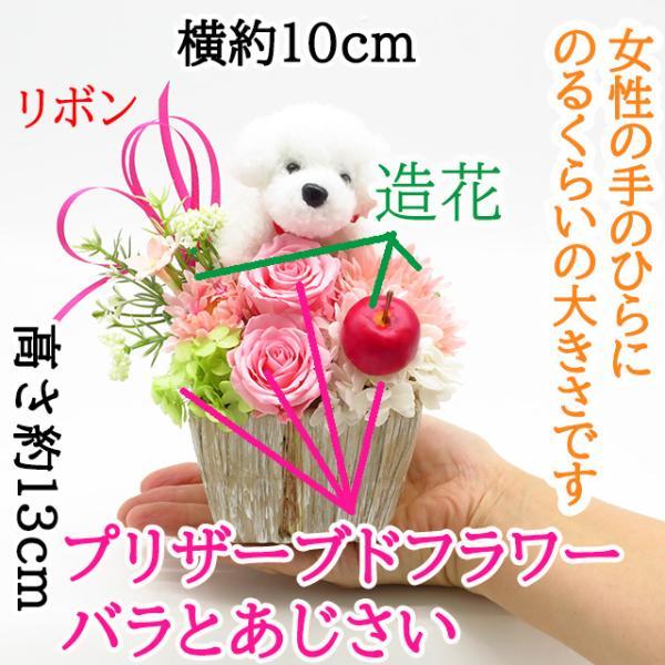 プリザーブドフラワー バラ フラワーアレンジメント 誕生日 花 誕生日プレゼント 女性 花 ギフト|sunmokusui55|05