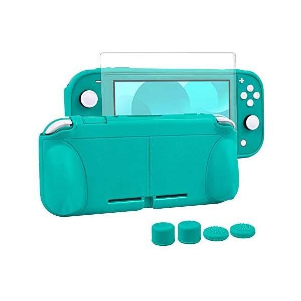 Nintendoswitchliteカバースイッチライト任天堂ケースNintendoTPU素材一体式全面保護耐衝撃(ターコイズ)