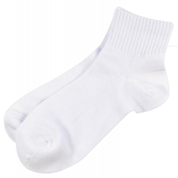 キッズソックススクールソックススニーカー靴下ハイカット丈白10足組/14A-008s