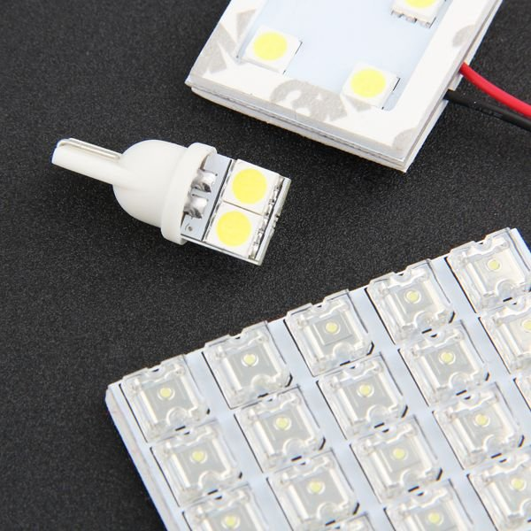 LED ルームランプ セット 室内灯 照明 TOYOTA  ノア/ヴォクシー 70系 ZRR70系 大型ランプ専用 FLUX LED  9点186発 ホワイト 取付工具付き sunpie 02
