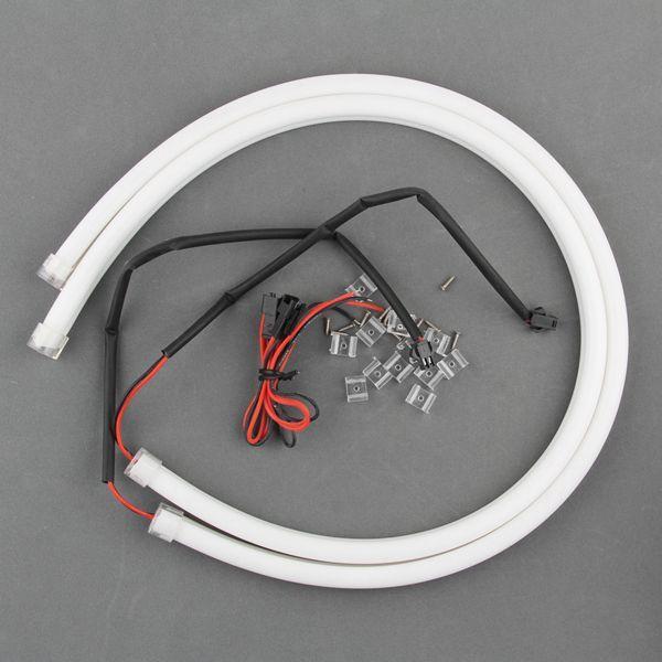 シリコンチューブ 柔軟 LEDデイライト 60cm 335チップ レッド ウインカー等に 高輝度114発 防水・カットOK!赤 2本 一年保証|sunpie|06