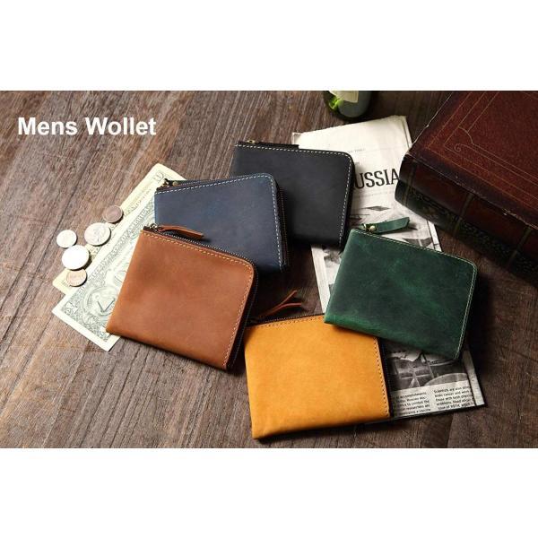 財布L字ファスナーメンズレディース革コンパクト小銭入れコインケース大容量ミニ財布使いやすい小さい薄型オイルレザー薄型小さめ