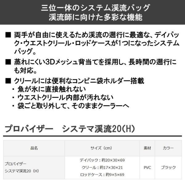ダイワ(Daiwa) タックルバッグ プロバイザー システマ渓流20(H) ブラック 880336