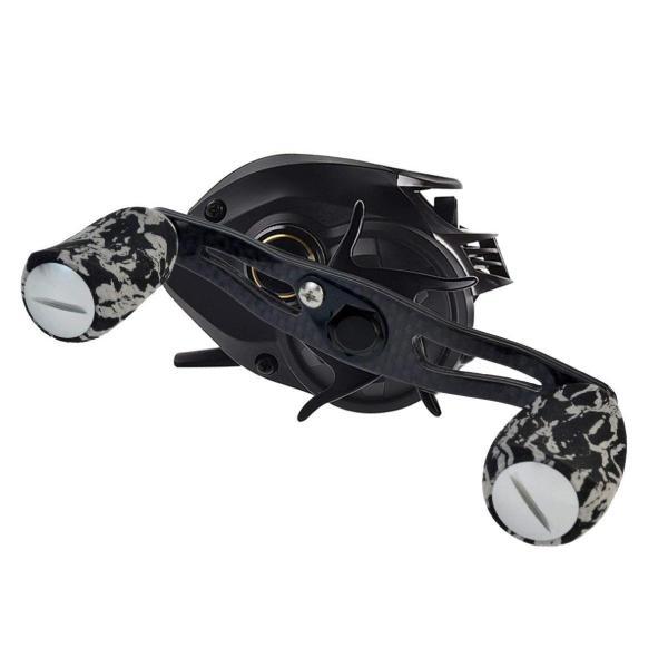 パワー ハンドル cnomg ベイトリールハンドル 釣り用 5 * 8mmリールシャフト用 超軽量 精度良い カーボン EVA 製 ブラック